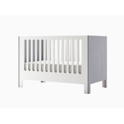 CUPCAKE CRIB IN GREY AND WHITE